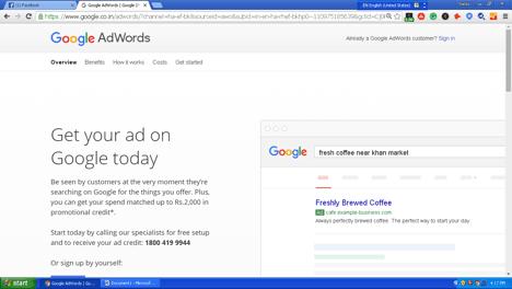 Google Keyword Planner  में sign up